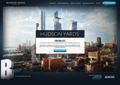 Banker Steel Projects Microsite