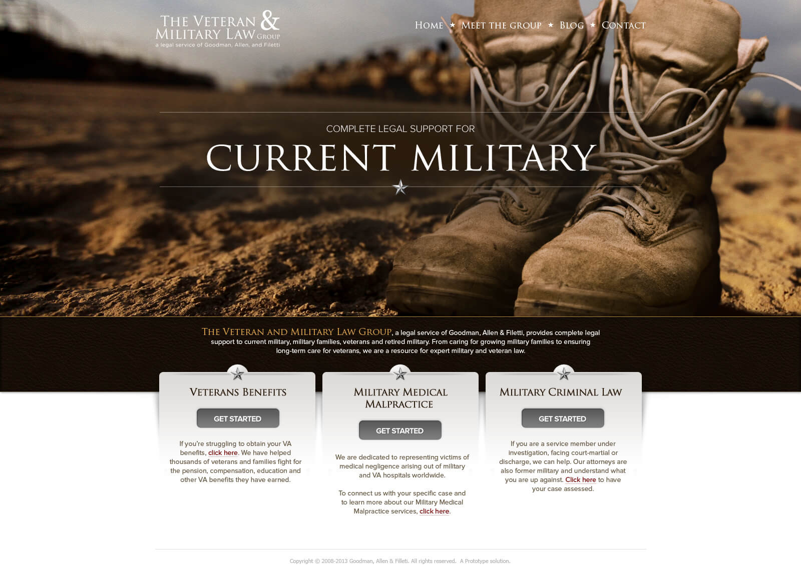 Goodman, Allen & Filetti Microsite