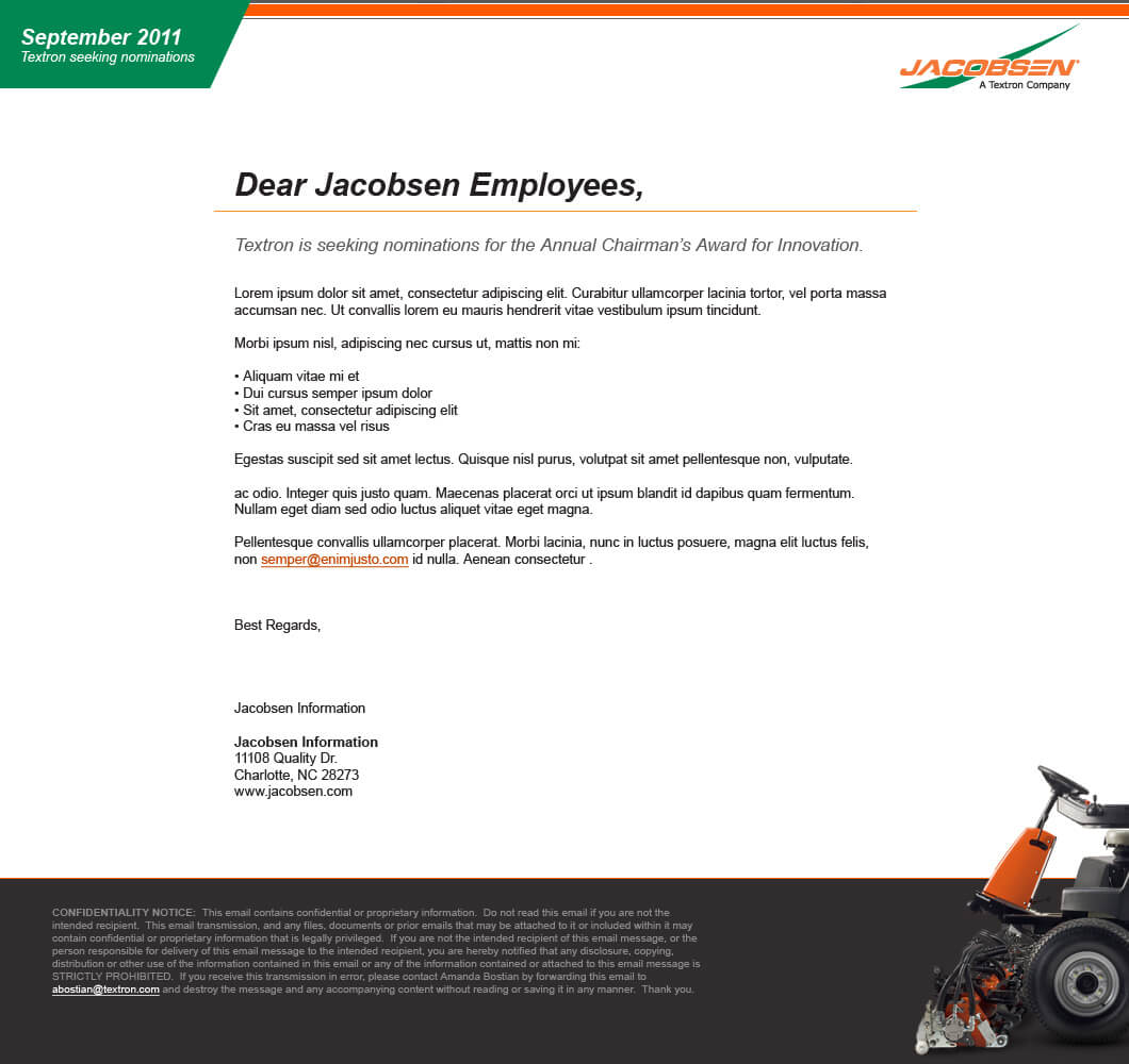 Jacobsen E-Mail Template
