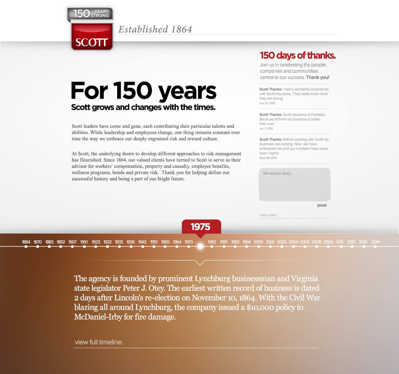 Scott Insurance Captive Solutions Landing Page