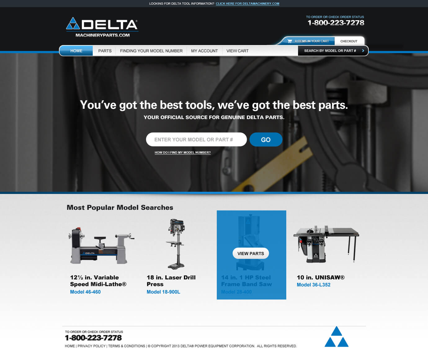Delta Parts e-Commerce