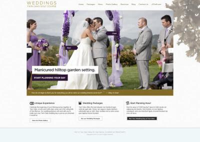 Twin Oaks Weddings Microsite