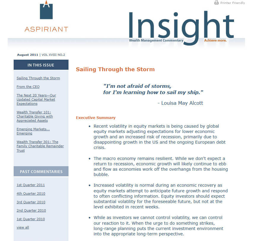 Aspiriant Insight E-Blast